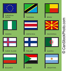 Flags flat set-03