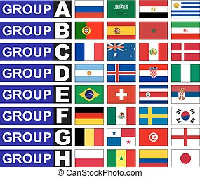 Flags football groups