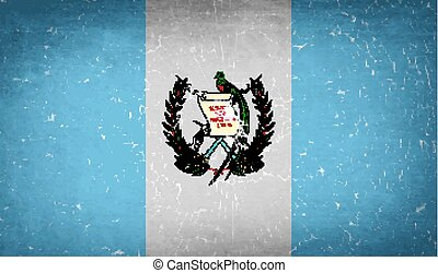 Flags Guatemala with broken glass texture. Vector