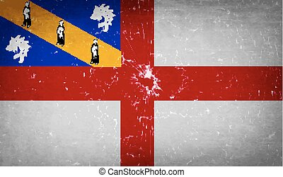 Flags Herm with broken glass texture. Vector