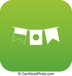 Flags icon digital green