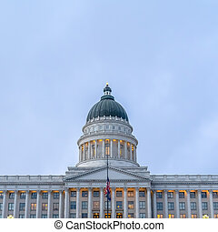 Flags in front of the Utah State Capital Building