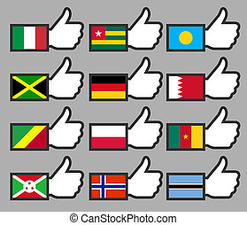 Flags in the Thumbs up-06