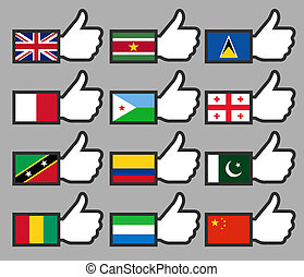 Flags in the Thumbs up-07
