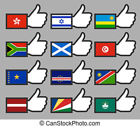 Flags in the Thumbs up-10