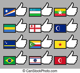 Flags in the Thumbs up-11
