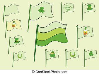 Flags of a St. Patrick's Day