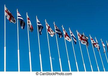 Flags of Adjara and Georgia