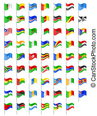 flags of Africa countries vector illustration