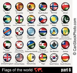 Flags of all countries in the 3d ball