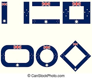 Flags of Australia with copy space