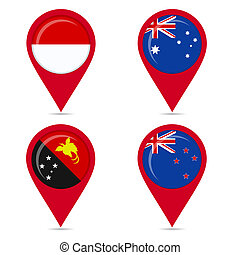 Flags of countries australis
