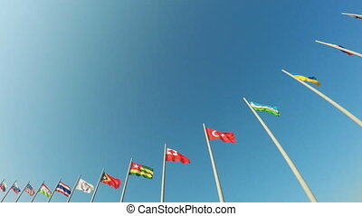 Flags of countries in Olympic Park
