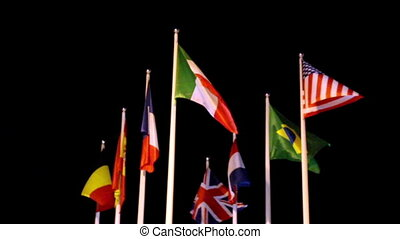 Flags of different nations which serves as potent patriotic...
