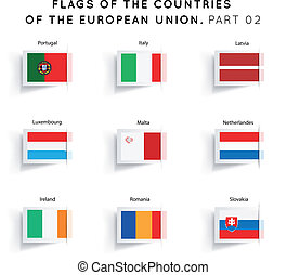 Flags of EU countries