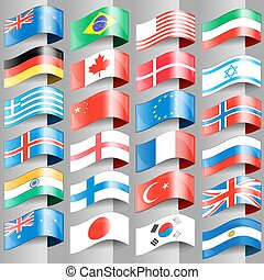 flags of european nations.
