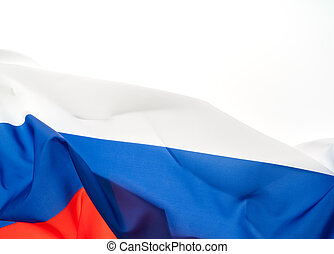 Flags of Russia on white background .