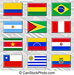South America - Flags of South America which is a...