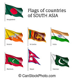 Flags of South Asian countries