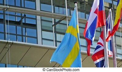 Flags of Sweden and other countries