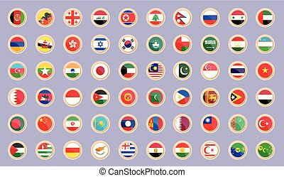 Flags of the countries of Asia.