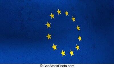 Flags of the United Kingdom and the European Union. UK Flag EU.
