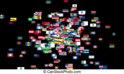 Flags of the World flying