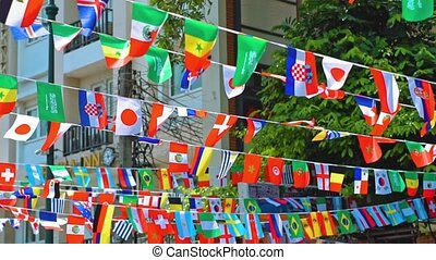 flags of the world. national symbols.