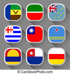 Set of country flags starting with the letter D stock illustration