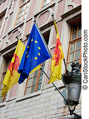 Flags of Wallonia and Europe - Flags of Wallonia region of ...