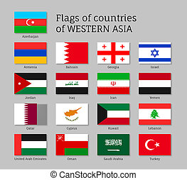 Flags of Western Asia states.
