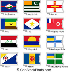 Flags of world-17 - Flags of world, flat vector...