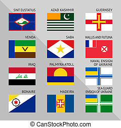 Flags of world, flat. Set number 17 - Flags of world, flat...