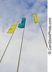 Flags on the wind