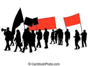Flags people