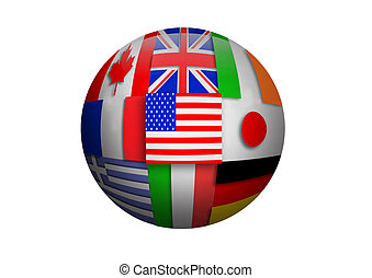 Flags Puzzle Ball