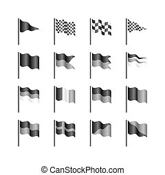 Flags template illustration