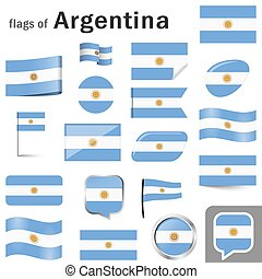 flags with country colors of Argentina