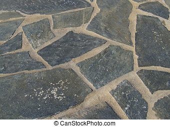 Flagstone Floor - Background of paved ground