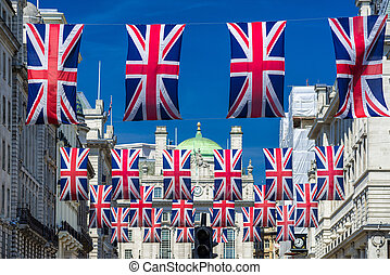 Flahs of Great Britain - Flags of Great Britain in London