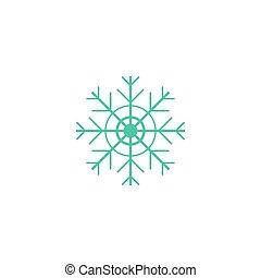 Flake of snow Icon Vector