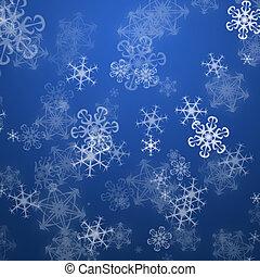 flakes, kerstmis, achtergrond, sneeuw