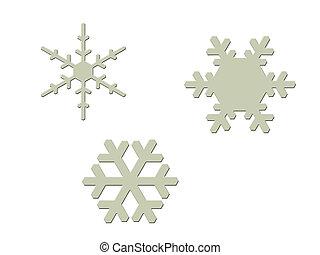 flakes, sneeuw