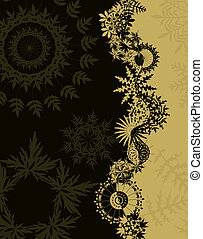 Flakes - Illustrated background of various rosette shapes