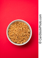 flakes wheat in the bowl