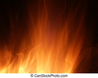 Flame and Sparks - A whirl of flame and sparks light up the ...