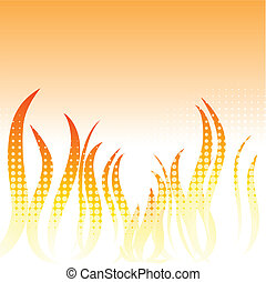 Flame background.