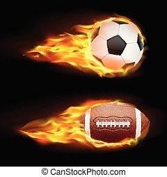 flame ball soccer football template