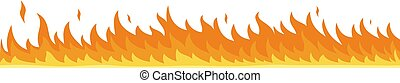 Flame banner horizontal, flat style