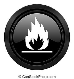 flame black icon